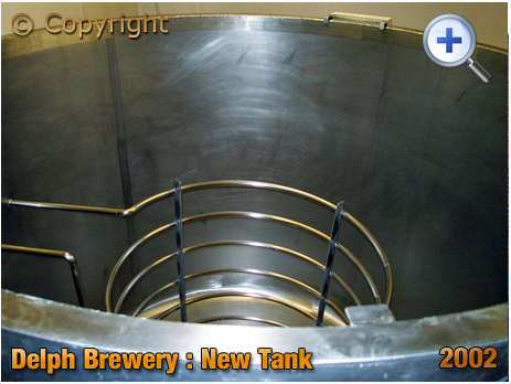 Brierley Hill : New Tank at the Delph Brewery of Daniel Batham and Son Ltd. [2002]