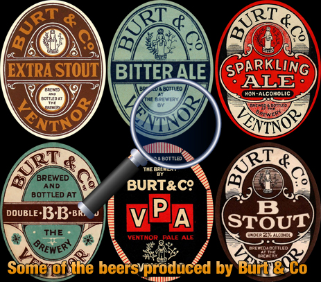 Some of the beers produced by Burt & Co. at Ventnor
