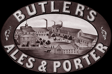 Advertisement for Butler's Ales and Porter at the Ettingshall New Village Brewery near Wolverhampton