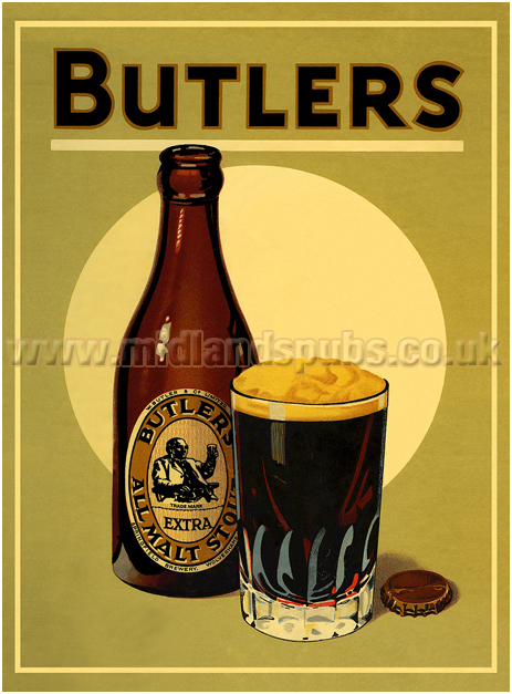 Butler's Extra All Malt Stout Point-of-Sale Material