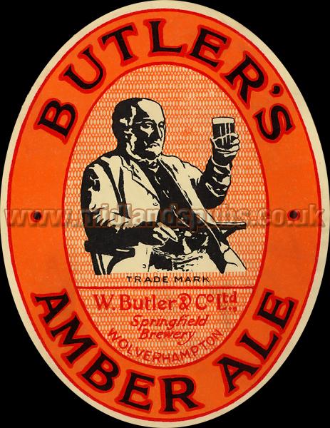 Butler's Amber Ale Beer Label [September 1935]