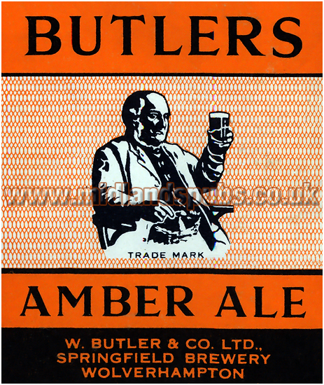 Butler's Amber Ale Dummy Beer Label [1957]