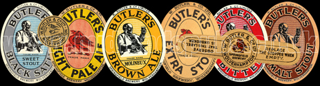 Beer Labels produced at William Butler and Co. Ltd. of Springfield at Wolverhampton in Staffordshire