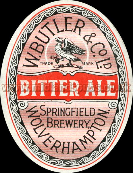 Butler's Bitter Ale Beer Label