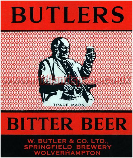 Butler's Bitter Beer Dummy Beer Label [1957]