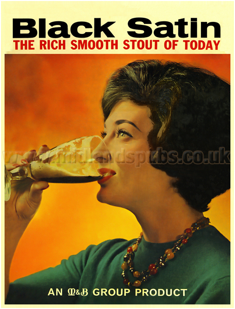 Butler's Black Satin Stout [1960s Advertisement when under the M&B banner]