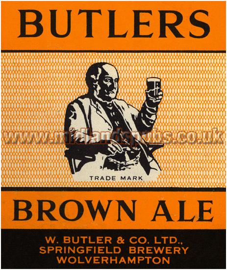 Butler's Brown Ale Beer Label [1957]