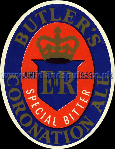 Butler's Coronation Beer Label [1953]