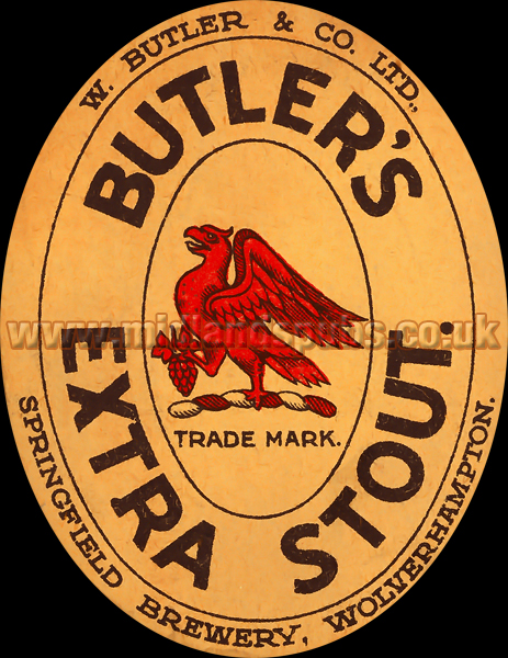 Butler's Extra Stout Beer Label
