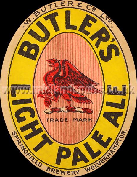 Butler's Light Pale Ale Beer Label