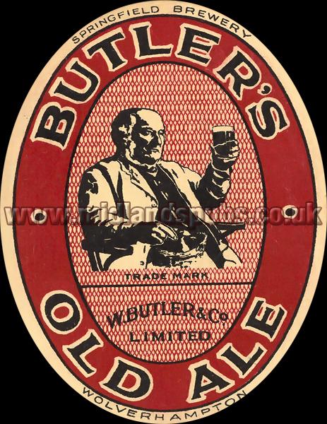 Butler's Old Ale Beer Label [February 1934]
