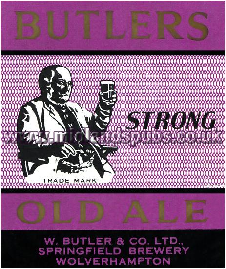 Butler's Strong Old Ale Rejected Beer Label [1959]