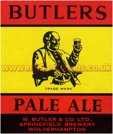 Butler's Pale Ale Beer Label [c.1957]
