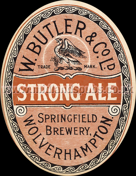 Butler's Strong Ale Beer Label