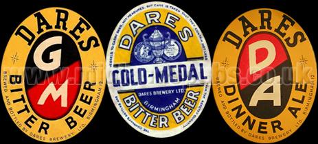 Dare's Beer Bottle Labels