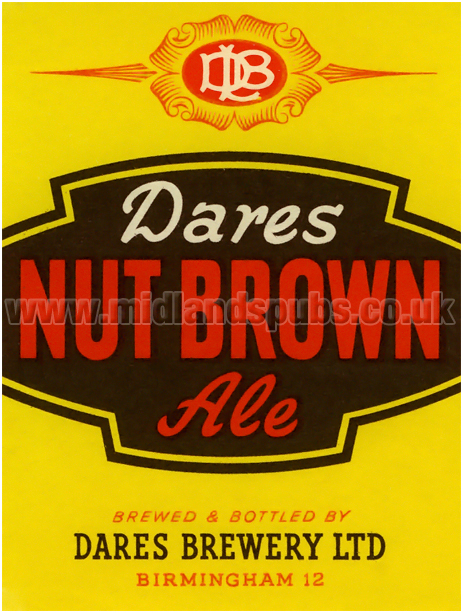 Dare's Nut Brown Ale Beer Label