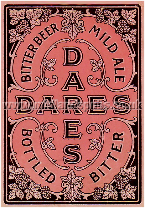 Dare's Brewery Playing Card