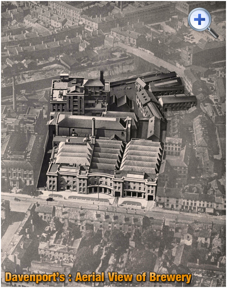 Aerial View of Davenport's Brewery on Bath Row in Birmingham [c.1935]