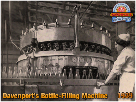 Bottle-Filling Machine at Davenport's Brewery at Bath Row in Birmingham [c.1935]