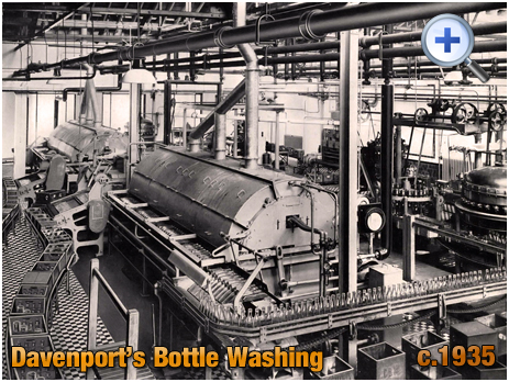 Bottle Washing at Davenport's Brewery at Bath Row in Birmingham [c.1935]