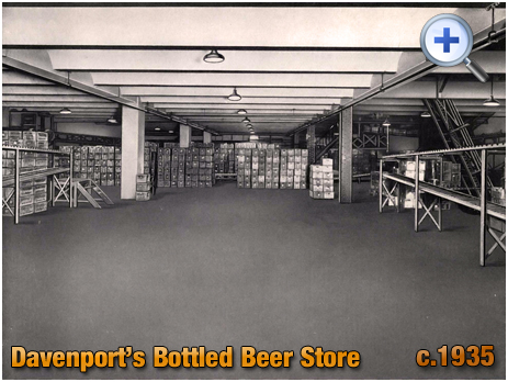 Bottled Beer Store at Davenport's Brewery at Bath Row in Birmingham [c.1935]
