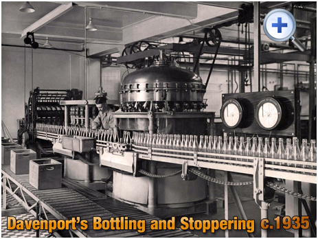 Bottling and Stoppering at Davenport's Brewery at Bath Row in Birmingham [c.1935]