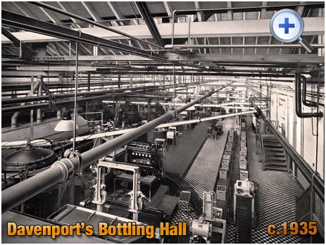 Bottling Hall at Davenport's Brewery at Bath Row in Birmingham [c.1935]