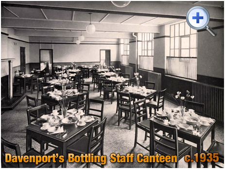 Bottling Staff Canteen at Davenport's Brewery at Bath Row in Birmingham [c.1935]