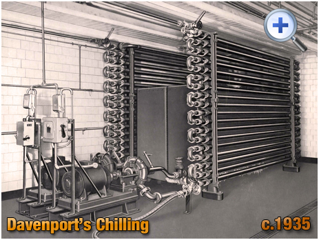 Chiller at Davenport's Brewery at Bath Row in Birmingham [c.1935]