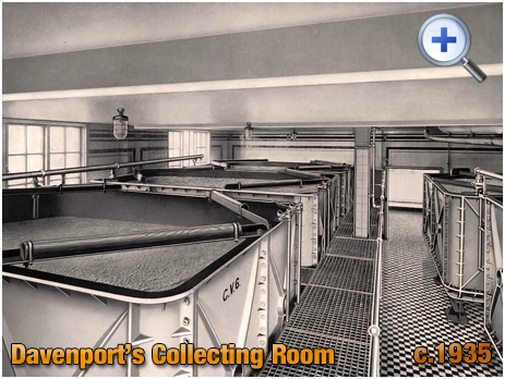 Collecting Room at Davenport's Brewery at Bath Row in Birmingham [c.1935]