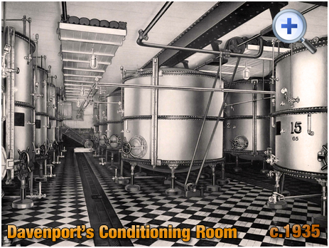 Conditioning Room at Davenport's Brewery at Bath Row in Birmingham [c.1935]