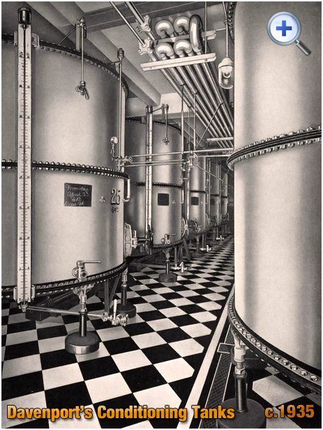 Conditioning Tanks at Davenport's Brewery at Bath Row in Birmingham [c.1935]