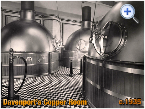 Copper Room at Davenport's Brewery at Bath Row in Birmingham [c.1935]