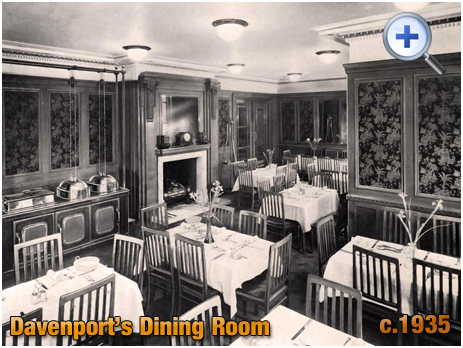 Dining Room at Davenport's Brewery at Bath Row in Birmingham [c.1935]