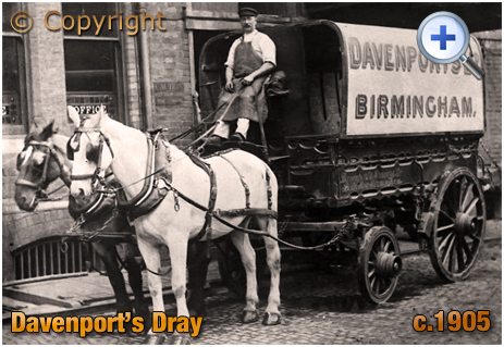 Dray of Davenport's Brewery at Bath Row in Birmingham [c.1905]