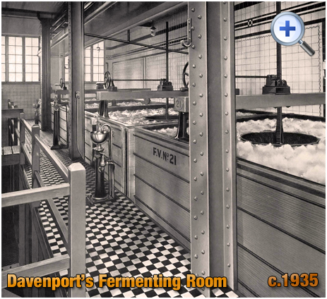Fermenting Room at Davenport's Brewery at Bath Row in Birmingham [c.1935]
