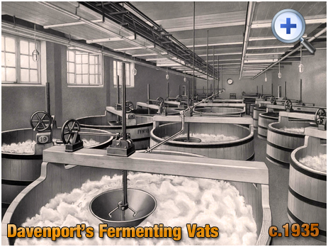 Fermenting Vats at Davenport's Brewery at Bath Row in Birmingham [c.1935]