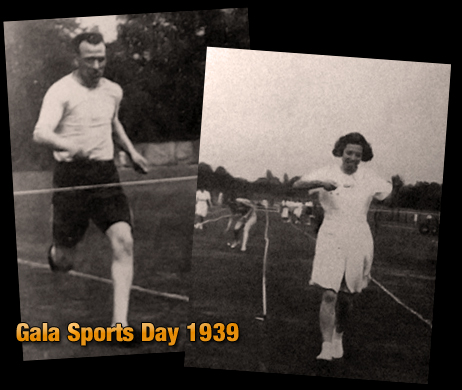 Davenport's Brewery : Reginald Fieldhouse and Miss Simpson at the Gala Sports Day [1939]