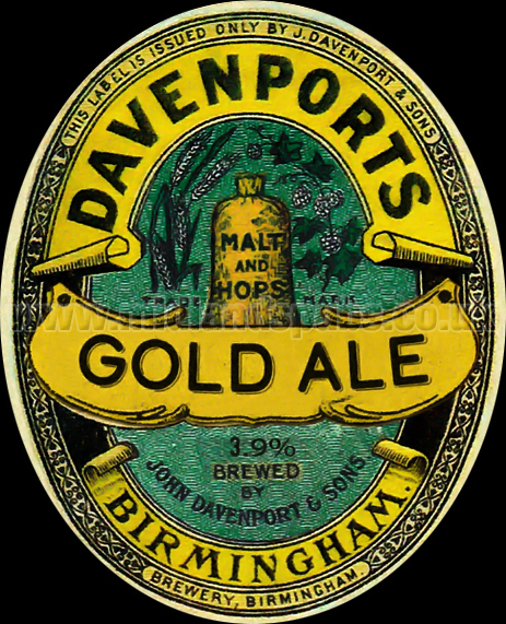 Davenport's Gold Ale