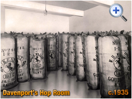 Hop Room at Davenport's Brewery at Bath Row in Birmingham [c.1935]