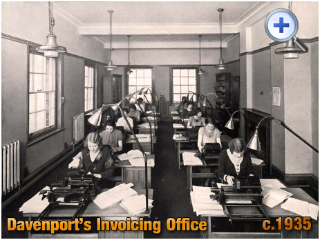 Invoicing Office at Davenport's Brewery at Bath Row in Birmingham [c.1935]