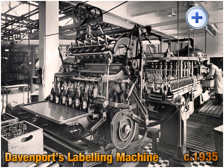 Labelling Machine at Davenport's Brewery at Bath Row in Birmingham [c.1935]