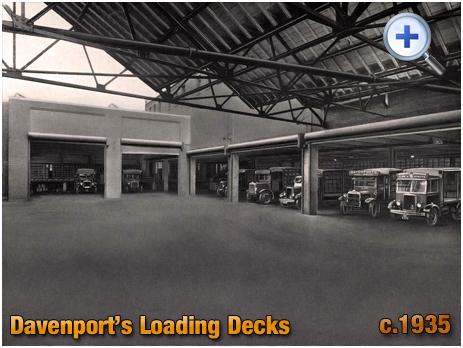Loading Decks at Davenport's Brewery at Bath Row in Birmingham [c.1935]