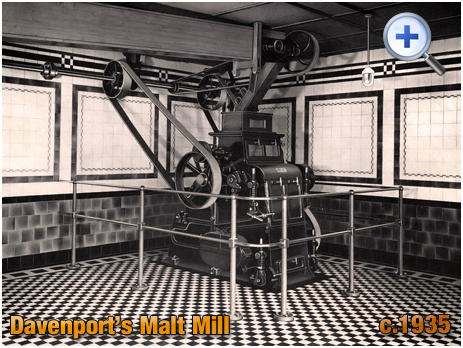 Malt Mill at Davenport's Brewery at Bath Row in Birmingham [c.1935]