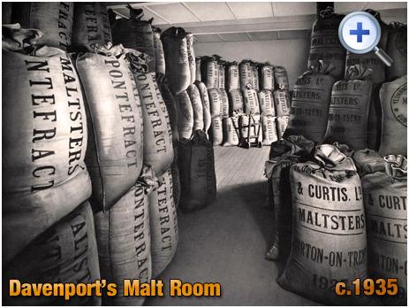 Malt Room at Davenport's Brewery at Bath Row in Birmingham [c.1935]