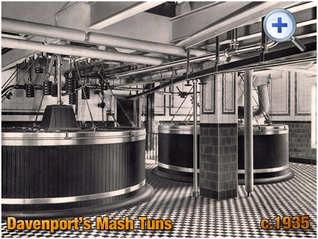 Mash Tuns at Davenport's Brewery at Bath Row in Birmingham [c.1935]