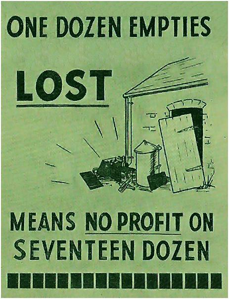 One Dozen Empties Lost Means No Profit On Seventeen Dozen