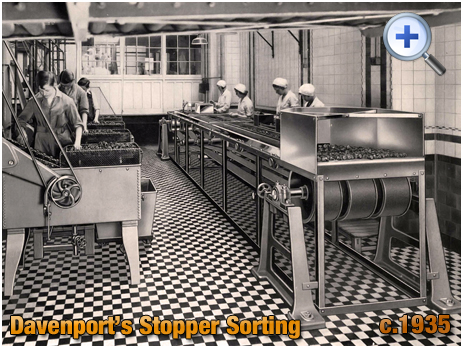 Stopper Sorting and Washing at Davenport's Brewery at Bath Row in Birmingham [c.1935]