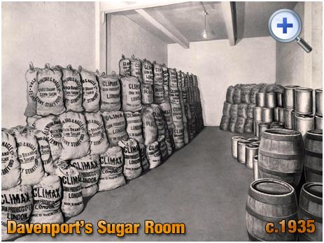 Sugar Room at Davenport's Brewery at Bath Row in Birmingham [c.1935]