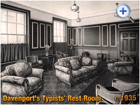 Typists' Rest Room at Davenport's Brewery at Bath Row in Birmingham [c.1935]
